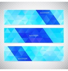 Colorful Horizontal Set Of Banners Mosaic vector image