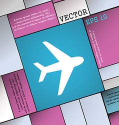 Plane icon sign modern flat style for your design vector