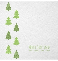 Christmas card with christmas trees vector
