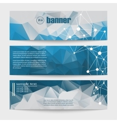 Set of templates for design of banners vector image