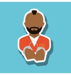 Criminal icon design vector