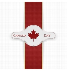 Canada day national label with red ribbon vector