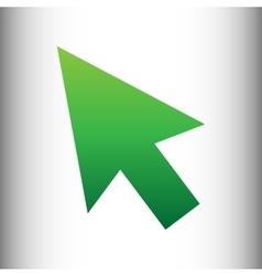 Arrow sign green gradient icon vector