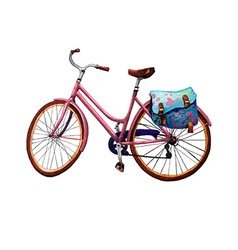 Bike and Bag vector image vector image
