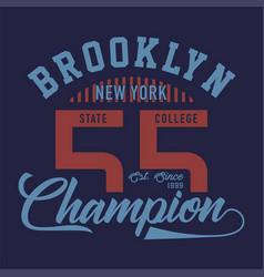 Brooklyn new york champion vector