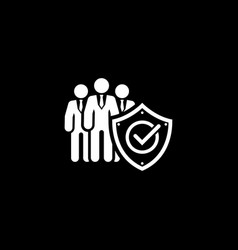 Business protection icon flat design vector