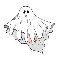 cartoon image of ghost vector image