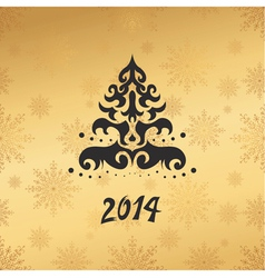 christmas card 2014 vector image vector image
