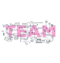 creative of team word lettering vector image vector image