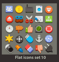 Flat icon-set 10 vector