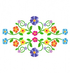 floral decor vector image vector image