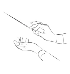 Hands of conductor vector image