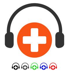 Hospital call service flat icon vector