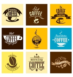 Hot fresh morning coffee banners vector image vector image