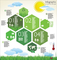 Infographic ecology template design vector image vector image