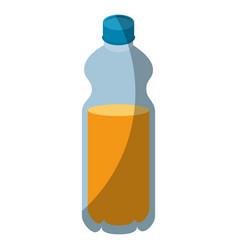 isolated orange bottle vector image