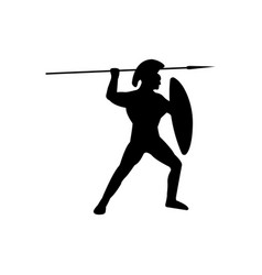 Legionnaire warrior silhouette on white background vector
