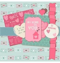 love scrapbook elements vector image vector image