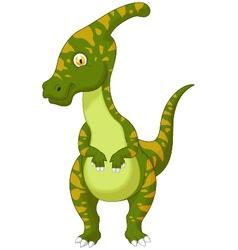 Parasaurolophus cartoon vector image vector image