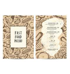 restaurant food menu typography template vector image