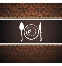 Restaurant menu design vector image