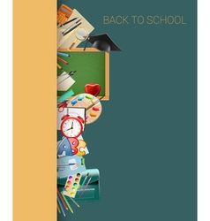 School border background vector