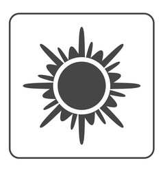 Sun icon black design element vector