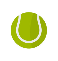 Tennis ball icon flat style vector
