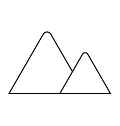 Triangular mountains icon vector
