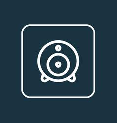 Web cam outline symbol premium quality isolated vector