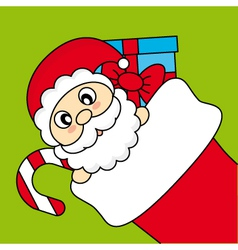 Santa claus wishing merry christmas vector