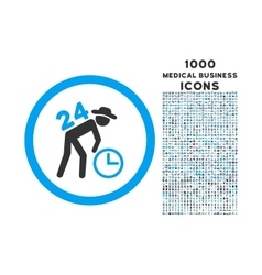 Around the clock work rounded icon with 1000 bonus vector