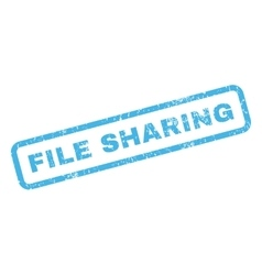 File sharing rubber stamp vector