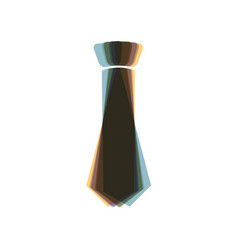 Tie sign   colorful icon vector