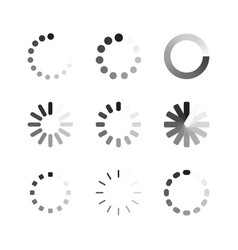 Different download icons vector