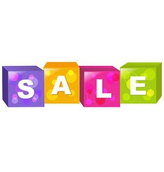 Sale Cube vector image