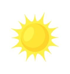 Sun shining vector image
