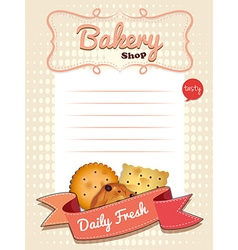 Line paper design with daily fresh cookies vector