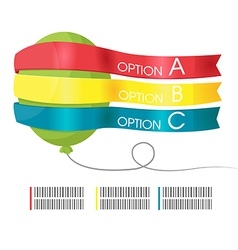 Balloon info graphic template present vector