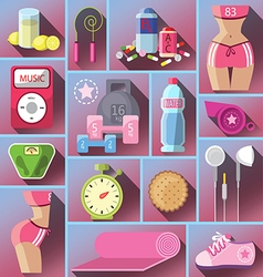 Healthy diet flat style vector
