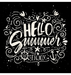 Print for t-shirt hello summer vector