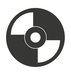 Vinyl disc isolated icon design vector
