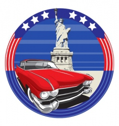 American style vector image vector image