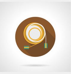 Audio cable flat round icon vector