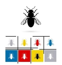 Bee icon vector