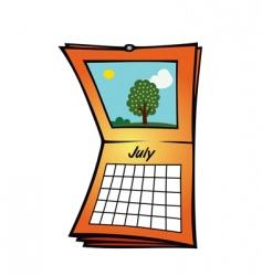calendar july vector image vector image