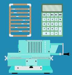 Collection of calculators vector image vector image