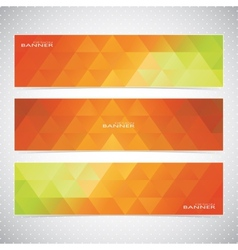 Colorful horizontal set of banners mosaic vector