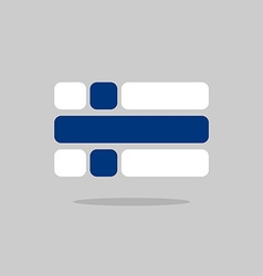 Flag of Finland Stylized Finnish flag of vector image vector image
