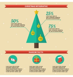 Flat design christmas infographics template vector image vector image